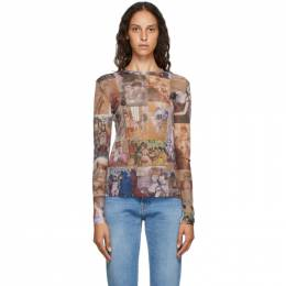 Y / Project Multicolor Mesh Graphic Long Sleeve T-Shirt TS49-S19