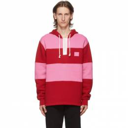 Acne Studios Red and Pink Rugby Hoodie CI0044-