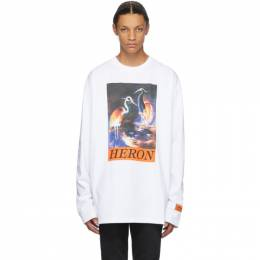 Heron Preston White Heron Times Long Sleeve T-Shirt HMAB016F20JER0020120