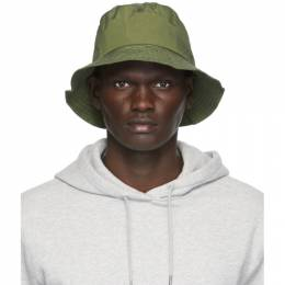 Norse Projects Green Nylon Bucket Hat N80-0063