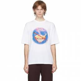 Opening Ceremony White Noodle Print T-Shirt YMAA001F20JER0040237