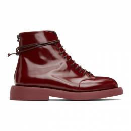 Marsell Burgundy Gommello Boots MMG470