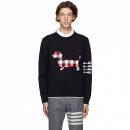 Thom Browne Navy Hector Icon Sweater MKA303A-00219