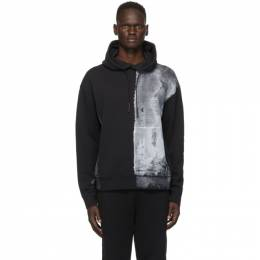 A-Cold-Wall Black Painted Hoodie ACWMW011