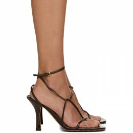 Bottega Veneta Brown Strappy Sandals 630178 VBP10