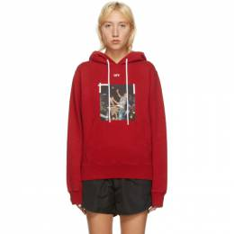 Off-White Red Pascal Slim Hoodie OMBB034F20FLE0112540