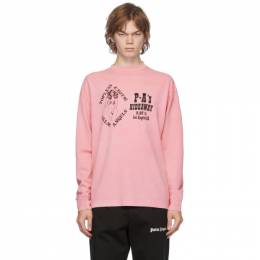 Palm Angels Pink GD Exotic Long Sleeve T-Shirt PMAB002F20JER0043010