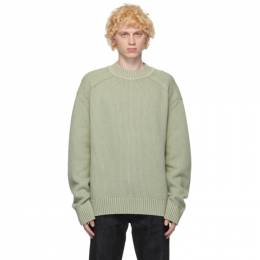 Jil Sander Green and Beige Wool Sweater JPUR752511_MRY20158