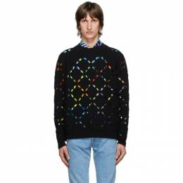 Versace Black Wool Cut Out Sweater A86954 A235913