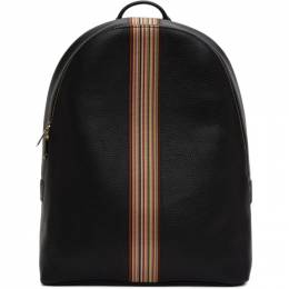 Paul Smith Black Signature Stripe Backpack M1A-5419-A40009