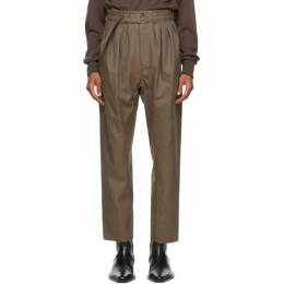 Lemaire Brown Wool 4 Pleats Trousers M 203 PA153 LF484