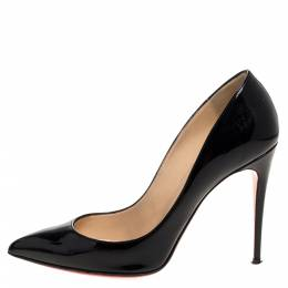 Christian Louboutin Black Patent Leather So Kate Pointed Toe Pumps Size 38 320757