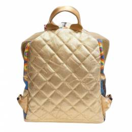 Chanel Gold Leather Paris-New York Street Spirit Backpack Bag 317951