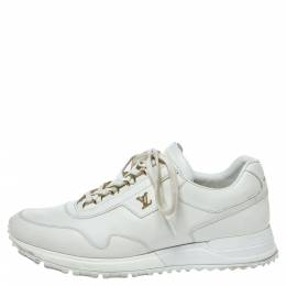 Louis Vuitton White Leather Run Away Low Top Sneakers Size 39.5 316242