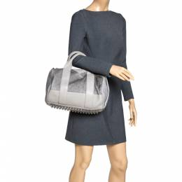 Alexander Wang Grey Ponyhair and Leather Rocco Duffel Bag 312658