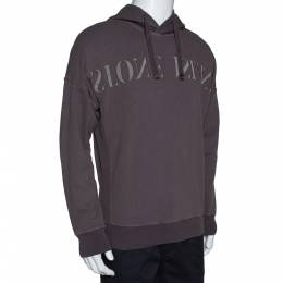 Stone Island Taupe Knit Reverse Logo Embroidered Hoodie M 310367