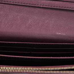 Burberry Burgundy House Check Canvas and Leather Flap Continental Wallet 324737