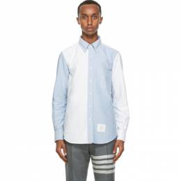 Thom Browne Blue and White Oxford Funmix Shirt MWL272F-06177