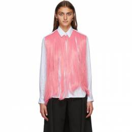 Comme Des Garcons Homme Plus White and Pink Hair Shirt PF-B028-051