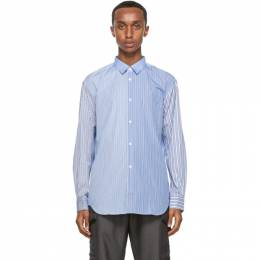 Comme des Garcons Shirt Blue and White Mix Striped Forever Shirt FO10B201