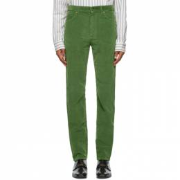 Gucci Green Washed Velvet Corduroy Trousers 623953 XDBEF