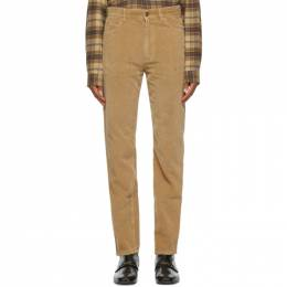 Gucci Brown Washed Velvet Corduroy Trousers 623953 XDBEF