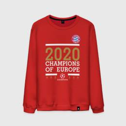 Мужской свитшот хлопок FC Bayern Munchen | Champions of Europe 2020