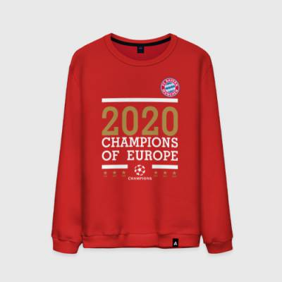 Мужской свитшот хлопок FC Bayern Munchen | Champions of Europe 2020 - 1