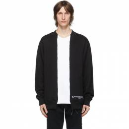 Mastermind World Black and White Patchwork Sweatshirt MW20S05-SW040-011