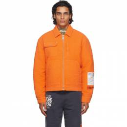 Heron Preston Orange Quilted Jacket HMEA052F20FAB0012200