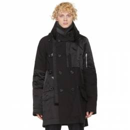 Sacai Black Oxford Coat 20-02323M