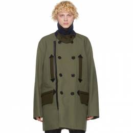 Sacai Khaki Oxford Coat 20-02320M