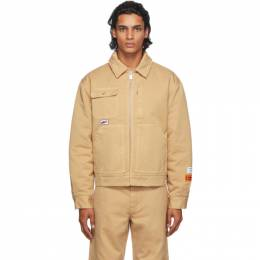 Heron Preston Tan Uniform Jacket HMEA052F20FAB0026300