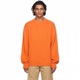 Heron Preston Orange Heron Stamp Sweater HMHE006F20KNI0022201