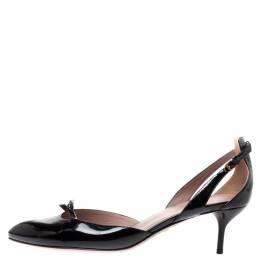 Gucci Black Patent Leather D'Orsay Slingback Pumps Size 39 327067