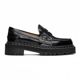 Proenza Schouler Black Patent Loafers PS35111A 12130