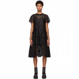 Sacai Black Paisley Lace Dress 20-05170