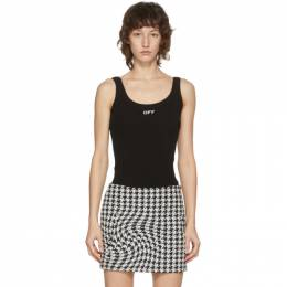 Off-White Black Ribbed Tank Top OWAD072F20JER0011001
