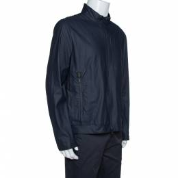 Armani Collezioni Navy Blue Water Repellent Zip Front Jacket XXL 328326