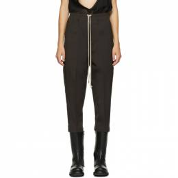 Rick Owens Brown Cropped Astaire Drawstring Trousers RP20F2303 WP