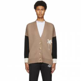 Palm Angels Brown Wool PXP Cardigan PWHB006F20KNI0016001