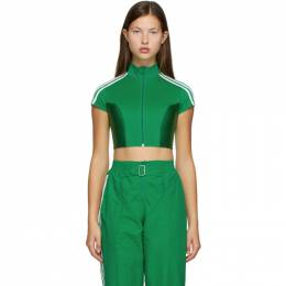 Adidas Originals Green Paolina Russo Edition Crop Top GF0262