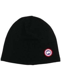 Canada Goose logo-patch beanie hat CG5116M