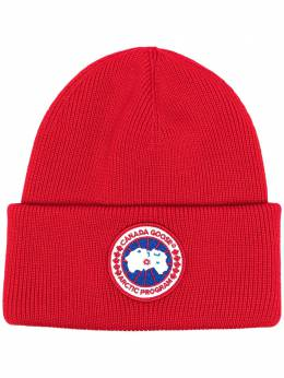 Canada Goose logo-patch beanie hat CG6936M