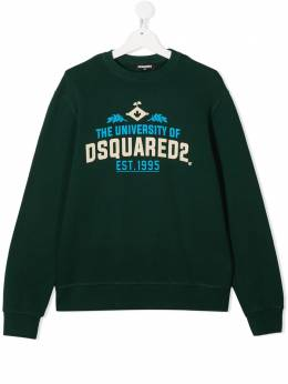 Dsquared2 Kids толстовка с принтом University of DSQUARED2 DQ049LD002GDQ865