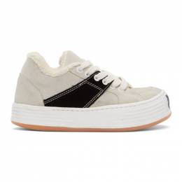 Palm Angels Off-White Suede Snow Low Top Sneakers PWIA034F20LEA0010110