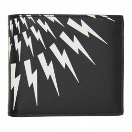 Neil Barrett Black Lightning Bolt Bifold Wallet PBSG190 P9202