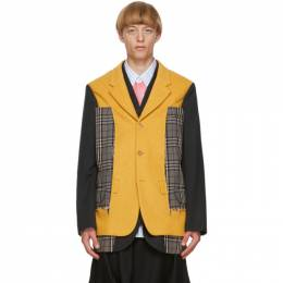 Comme Des Garcons Homme Plus Black and Yellow Wool Blazer PF-J012-051
