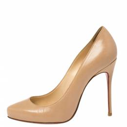 Christian Louboutin Beige Leather Simple Pumps Size 37 336312