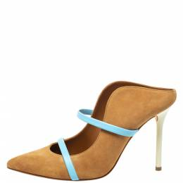 Malone Souliers Brown/Blue Suede Maureen Pointed Toe Pumps Size 37 336232